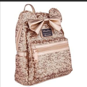Minnie Mouse RoseGold BackPack Loungefly